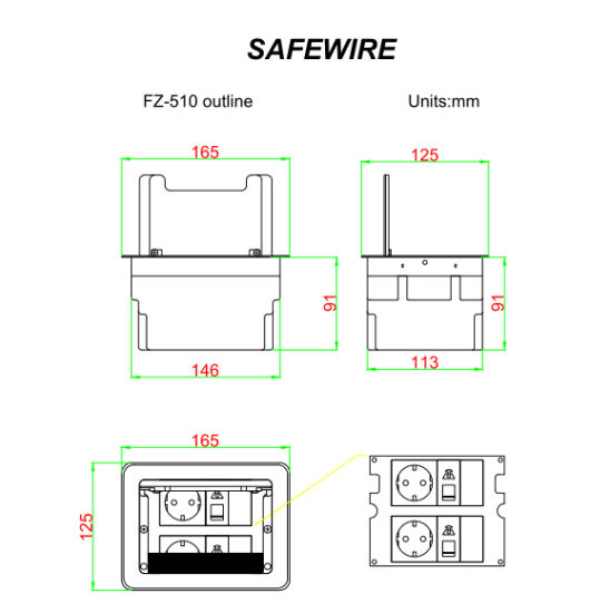 china wireless phone charging electrical table socket china hidded Electrical Plans Drawings
