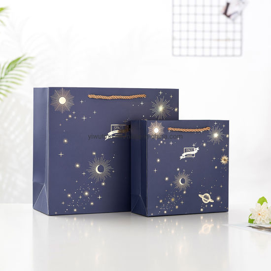 Hot Foil Gold Paper Shopping Bags for Clothing