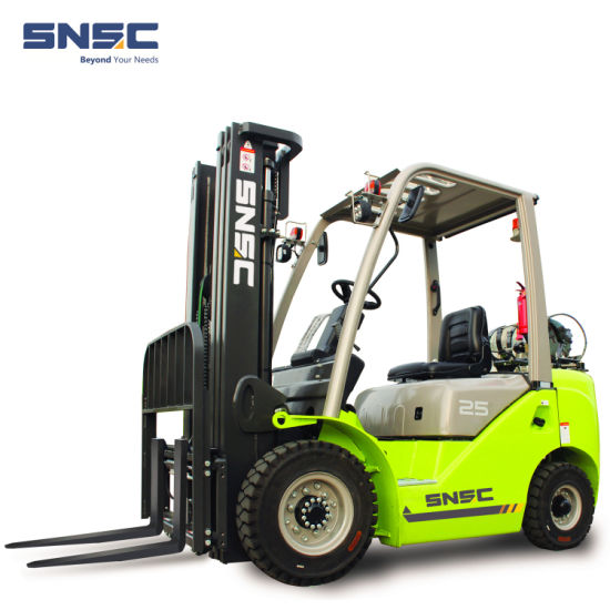 Snsc New 2.5 Ton LPG Gasoline Dual Fuel Propane Petrol Gas Forklift