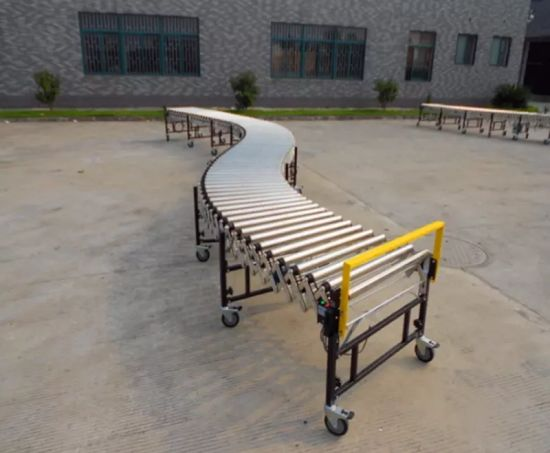 Galvanized Steel Rollers Flexible Retractable Manual Roller Conveyors pictures & photos