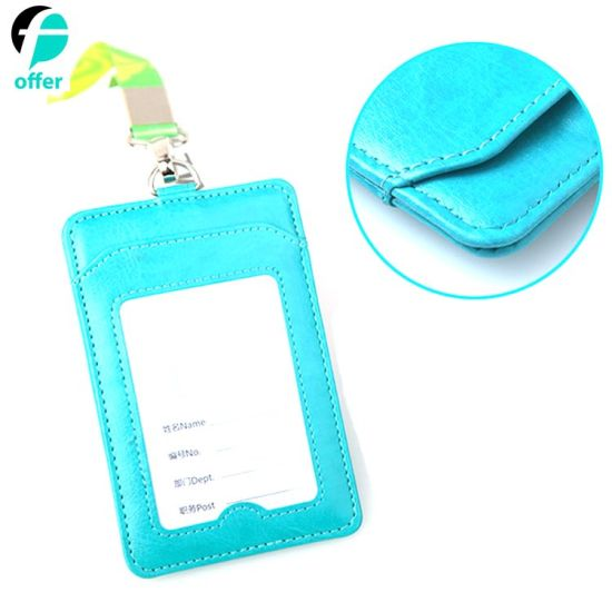 Useful Purse ID Card Case Holder with Neck Strap pictures & photos