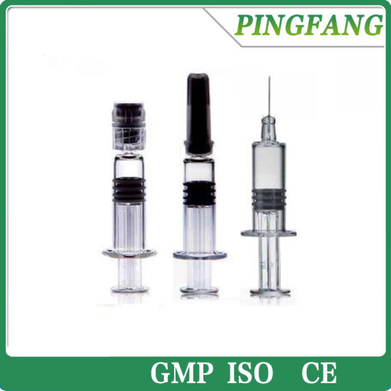 China Hot Sale 1ml Disposable Prefilled Glass Syringe for