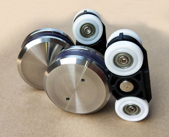 China Stainless Steel Sliding Glass Door Roller Wheels With Zinc