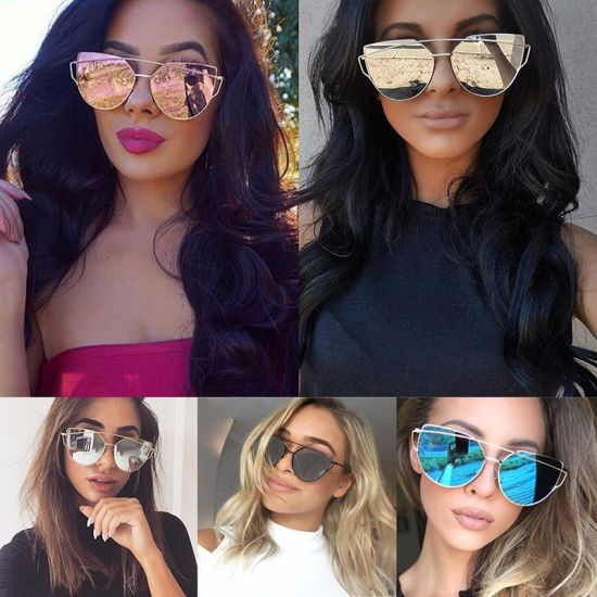 630575f073 Fashion Women Twin-Beams Photochromic Sun Glasses Golden Alloy Galss Frame  Outdoor Glasses Cat Eye Sunglasses