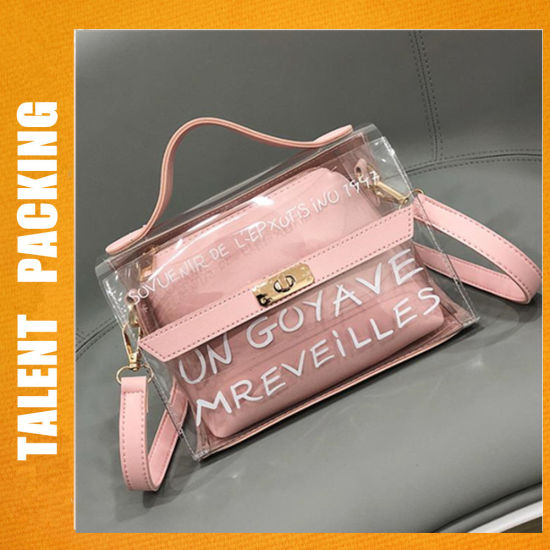 2018 Summer Fashion Beautiful Transparent Clear Jelly Handbags For Young S