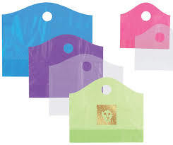 Punched Handle Plastic Bag with Customized Printing / Shopping Bag