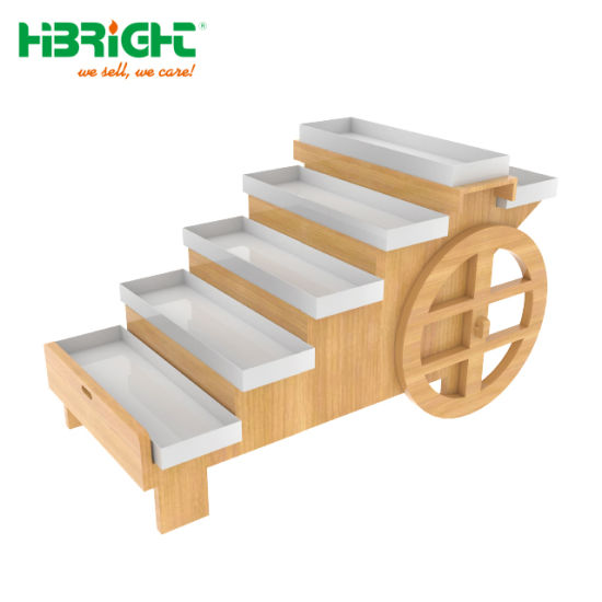 6 Layer Cart Type Wood Material Promotion Cage pictures & photos