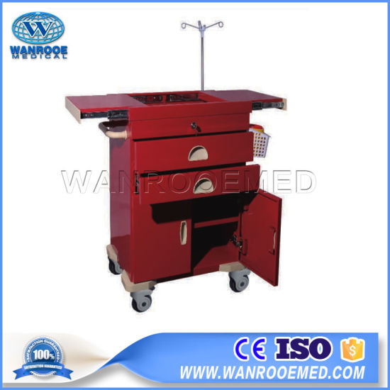 56j Hospital Used Emergency Medical Equipment ABS Plastic Clinic Trolley pictures & photos