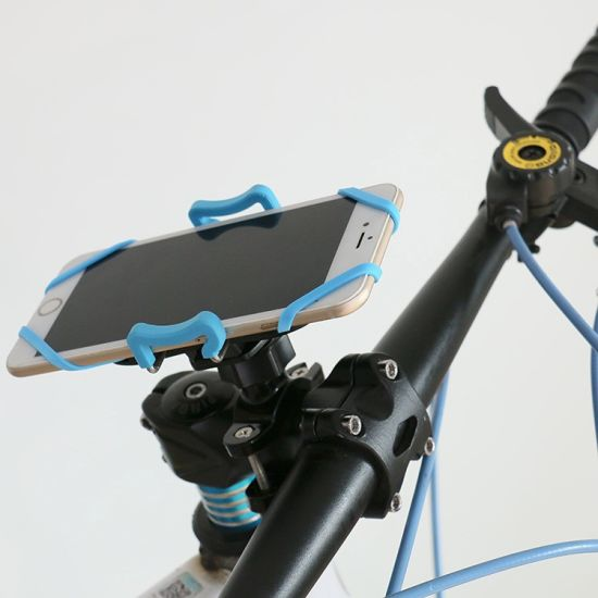Adjustable Silicone Mobile Phone Holder for Bicycle pictures & photos