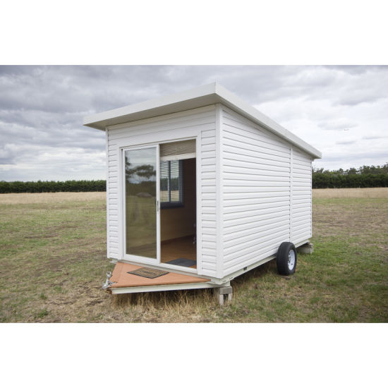 Prefabricated Modular Container Trailer House with PVC Plate for Living