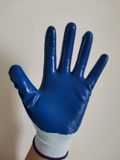 Protective Nylon Spandex Sandy Nitrile Safety Work Labour Gloves/Labor Gloves