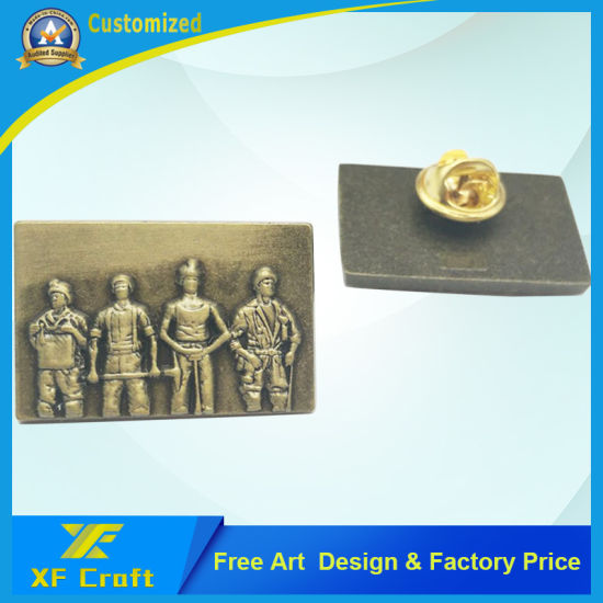 Cheap Customized Antique Bronze Metal 3D Badge with Customer Logo (BG59-A)