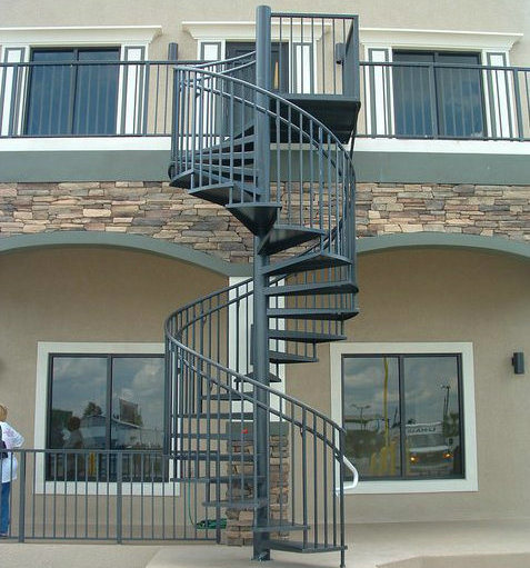 China modern outdoor steel staircase design galvanized - Exterior metal spiral staircase cost ...
