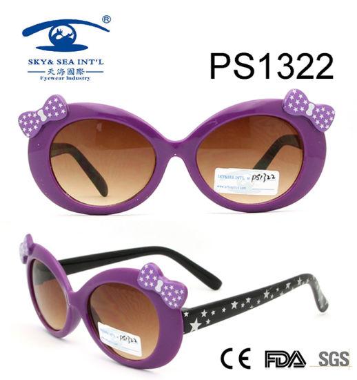 5c82e3d8ab41 Purple Cute Girl Colorful Children Kid Plastic Sunglasses (PS1322) pictures  & photos