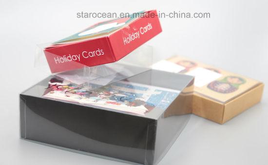 Transparent Christmas Card Plastic PVC/PP/Pet Packaging Box