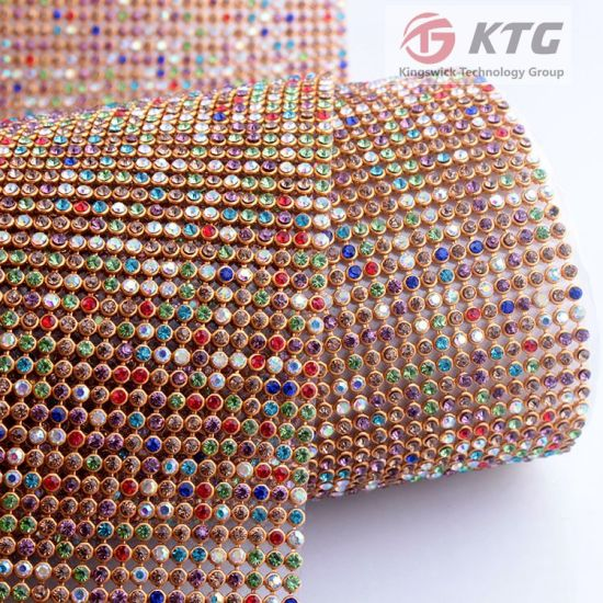 2016 Hot Fix Crystal Rhinestone Mesh for Sandals pictures & photos