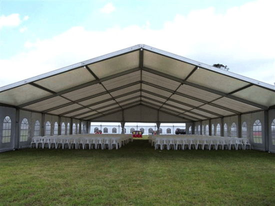 15m Span a-Shaped Luxury Wedding Tent with PVC Fabric & China 15m Span a-Shaped Luxury Wedding Tent with PVC Fabric ...