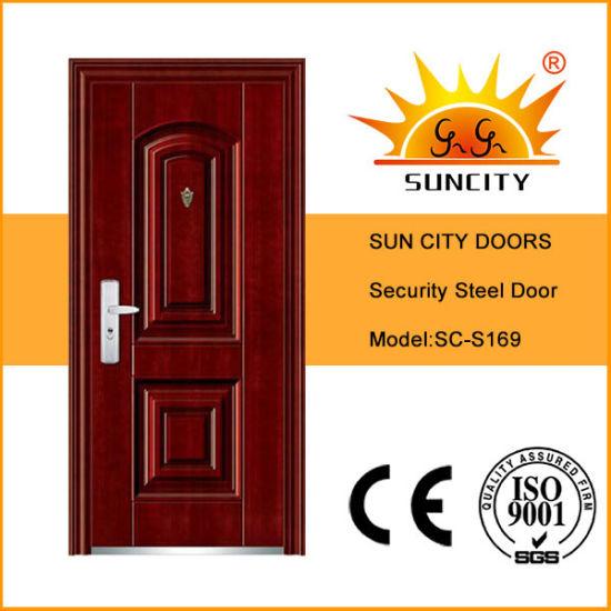 Cheap Galvanized Doors Frame Exterior Steel Door