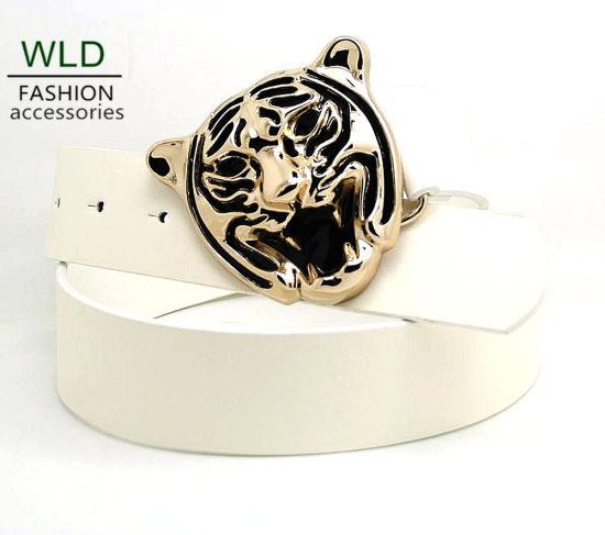 New Style Fashion Tiger Buckle PU Belt Ky5986