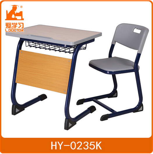 High School Ergonomic Wood Student Chair&Desk