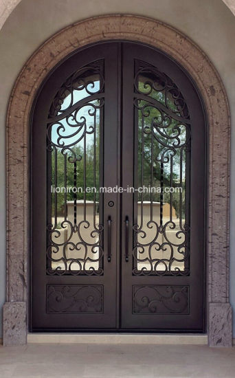 China Best Price Comtemporary Wrought Iron Front Entry Door China