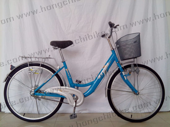 City Bicycle City Bike for Lady with Basket and Rear Carrier (HC-LB-77902)