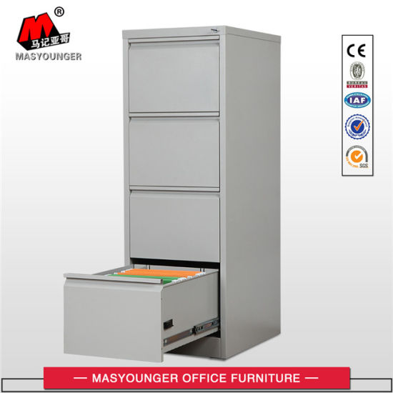 Steel Office Metal Powder Coating Furniture Use Vertical File 4 Drawers Storage Filing Cabinet pictures & photos