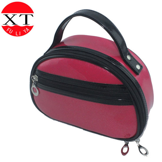 Fashion Vinyl PVC Cosmetic Bag with Cotton Lining