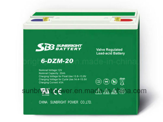 SBB 12V20ah Dzm Series Rechargeable Deep Cycle Battery
