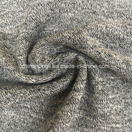 Hacci Cotton/Polyester 60/40, 260GSM, Melange French Terry Knitting Fabric for Sweater