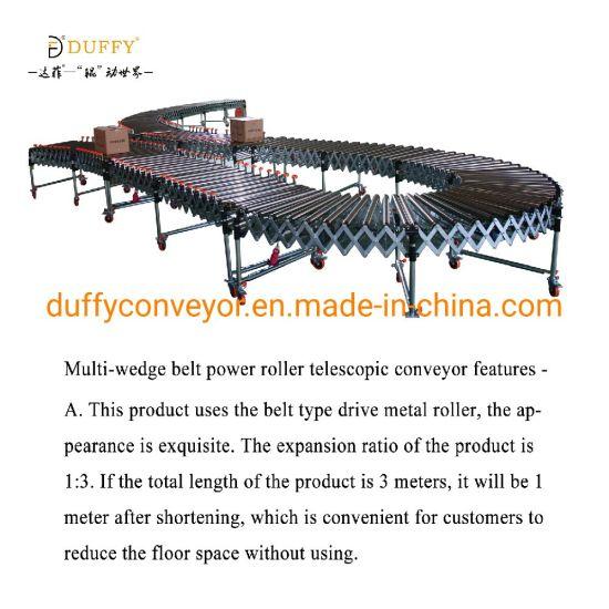 Power Multi-Wedge Belt Telescopic Roller Conveyor