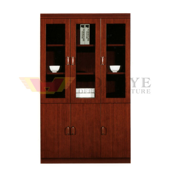 Maple Office Furniture 3 Doors Wooden Book Cabinet Hy C0511