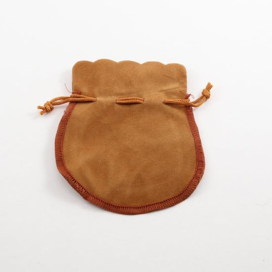 Round Velveteen Pouches Velour Velvet Bags Favor Gift Bags Pack pictures & photos