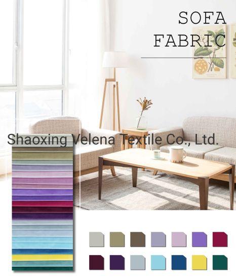 China Wholesale Suppliers Plush Velvet Original Dyeing Sofa Bed Curtain Modern Simple Plain Furniture Fabric