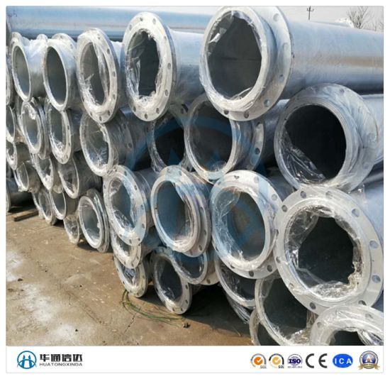 Customized HDG Carbon Steel Black Mild Steel Stainless Steel Galvanized Seamless Pipe and Flange Welded Assembling