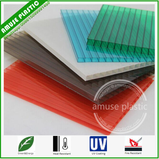 Bayer Plastic Building Material Twin-Wall Polycarbonate (PC) Hollow Roof Sheet pictures & photos