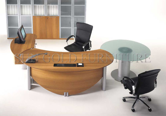 Half Round Executive Table Manager Office Furniture Sz Od112