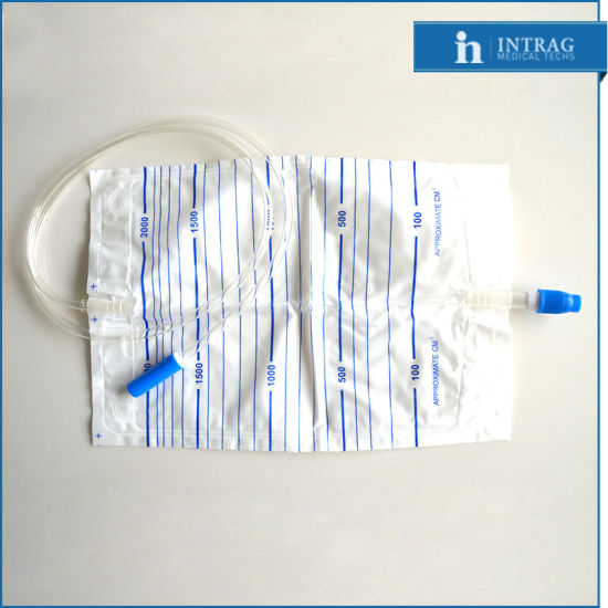 Sterile Disposable Drainage Bag with Cross Valve pictures & photos