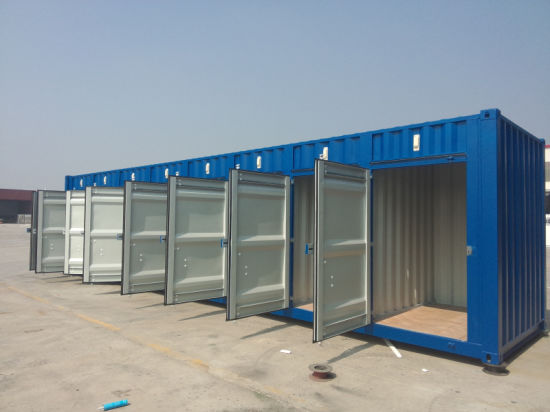 China 40hq Self Storage Container with 8 Single Door in Ral5010