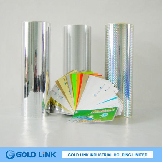 Bright Silver Pet Adhesive Sticker Film (PT6Y301-S)