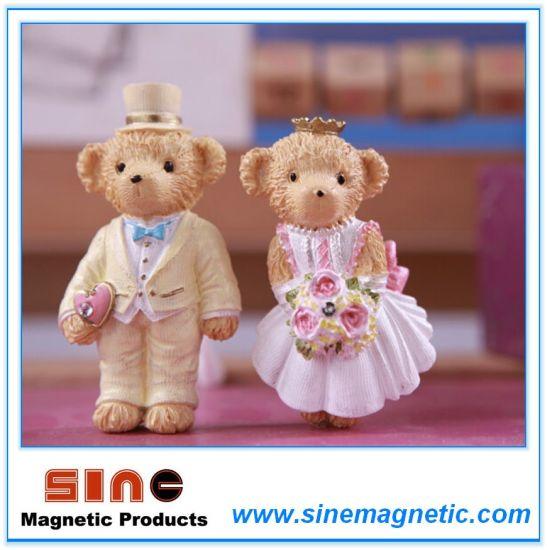 Cute Cartoon Wedding Teddy Bear Crafts Resin Fridge Magnet Sticker//Decoration