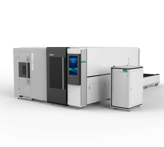 Tube and Sheet Cutting with Cover Fiber Laser Cutting Machine 1000W 2000W 3000W with High Quality