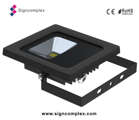 0-355degree Rotatable Waterproof IP65 Slim LED Flood Light 10W pictures & photos