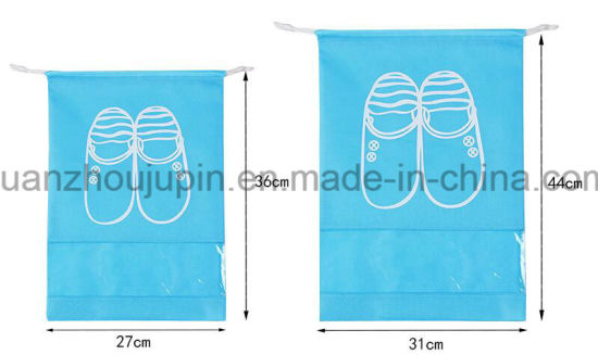 OEM Travel Folding Non Woven Shoes Drawstring Bag pictures & photos