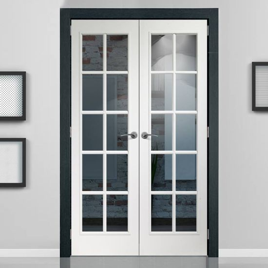 Double Tempered Glass Aluminum French Door with Mosquito Net & China Double Tempered Glass Aluminum French Door with Mosquito Net ...