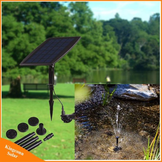 Mini Solar Panel Fountain 9V 2.5W Solar Garden Pool Landscape Decorative  Water Pump
