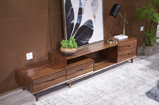 Modern Walnut TV Table (HCT01) pictures & photos