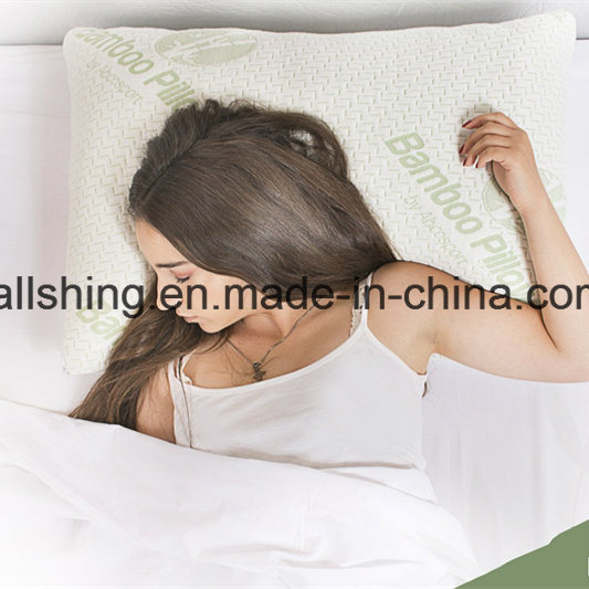 Breathable Bamboo Shredded Memory Foam Bed Rest Pillow pictures & photos