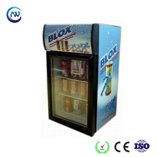 Commercial Free Standing Upright Energy Drink Mini Display Fridge (JGA-SC42)
