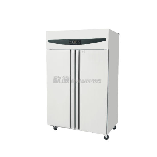 Commercial Kitchen Upright Air Cooling Double Door Refrigerator